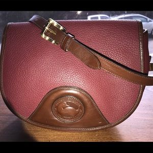 Rouge/Burnt Cedar Rare Dooney Vintage Flap Bag USA